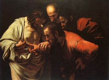 (The Incredulity of Saint Thomas by Caravaggio)