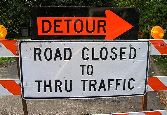 Detour Road Closed