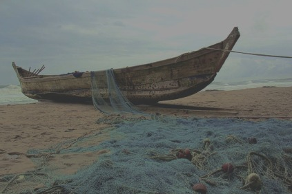 Boat and Net on Shore.jpg